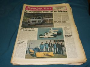 MOTORING NEWS 1977 Mar 3 Ari wins Mintex, Adelaide F5000, Kyalami F1 tests,BTCC